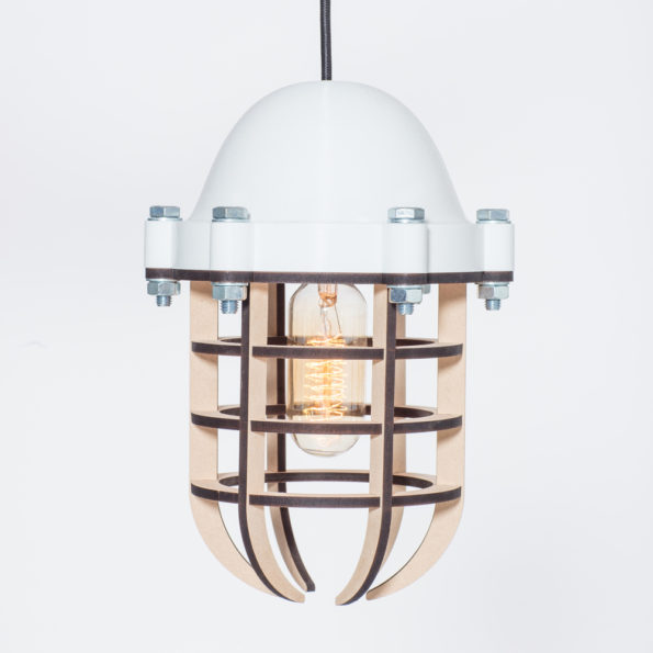 Moderne Lampe mit Aufdruck Weiß Ø 21 cm