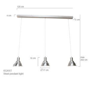 Factory-Lampe Jona 3 Leuchten