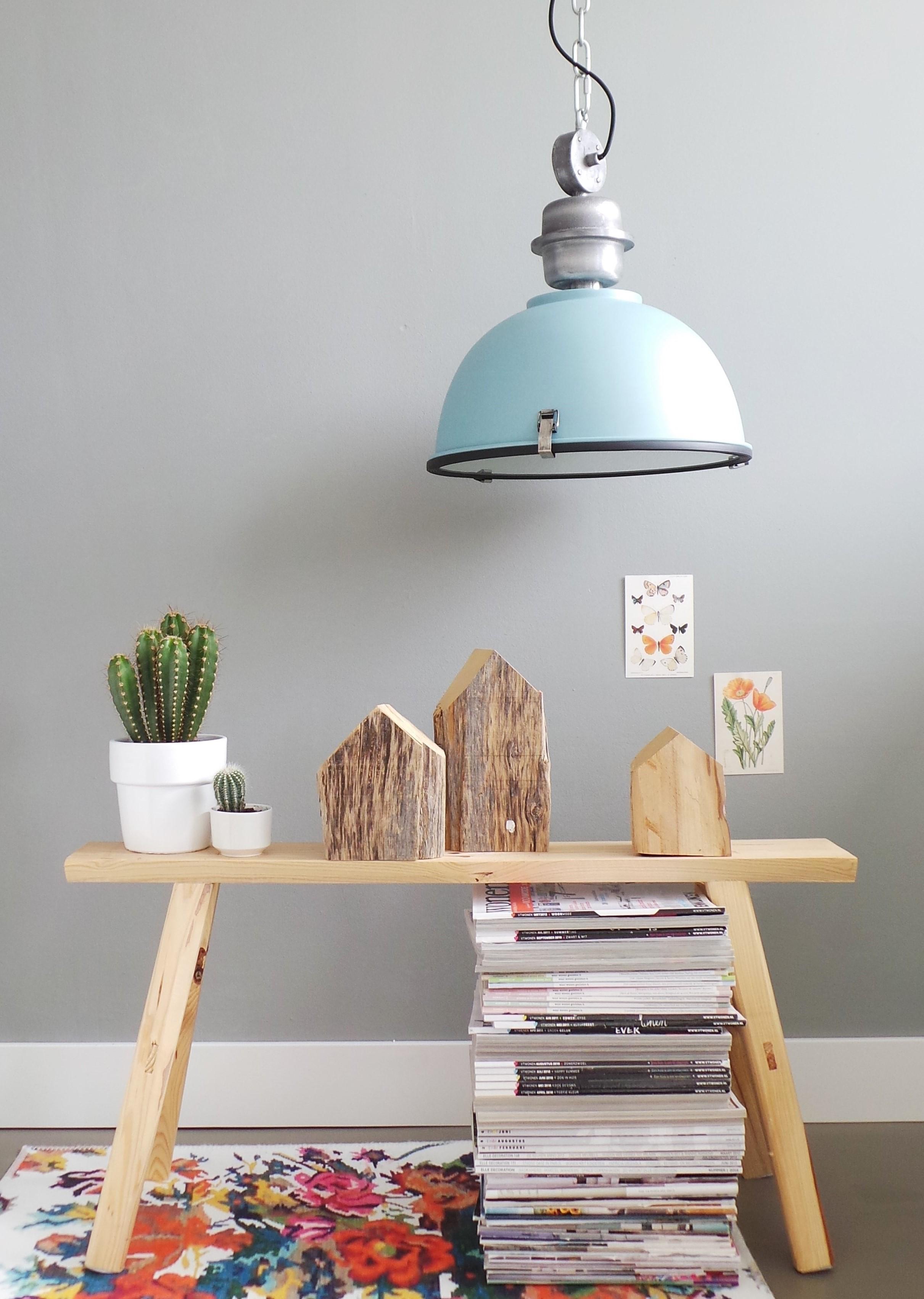 industrie h ngeleuchte core blau 42 cm. Black Bedroom Furniture Sets. Home Design Ideas