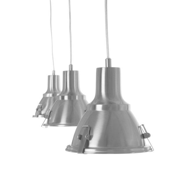 Hängelampe stahl 3-Lampen