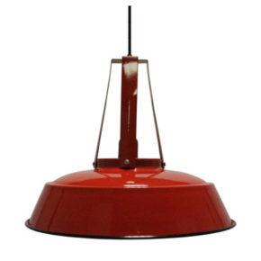 Hangeleuchte-rot-industrielle