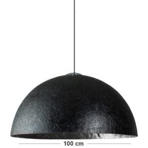 industrielampe silber schwarz xxl