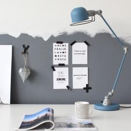 Industrielle Schreibtischleuchte Jip Blau