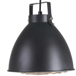 Eine robust Lampe Seattle in schwarz Ø26cm