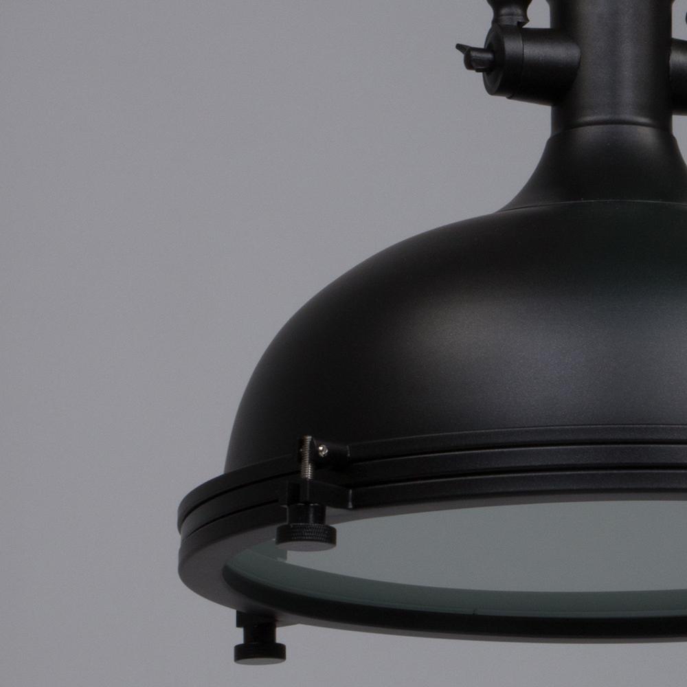 Industrielle Hängeleuchte Elmo Schwarz ø40 cm