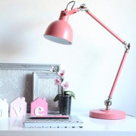 Robuste Schreibtischlampe Do altrosa
