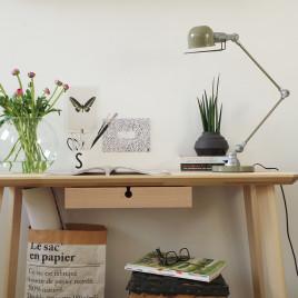 Industrielle Schreibtischleuchte Jip Grün