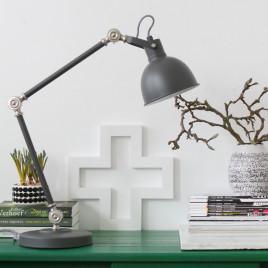 Industrielle Schreibtischlampe Do grau