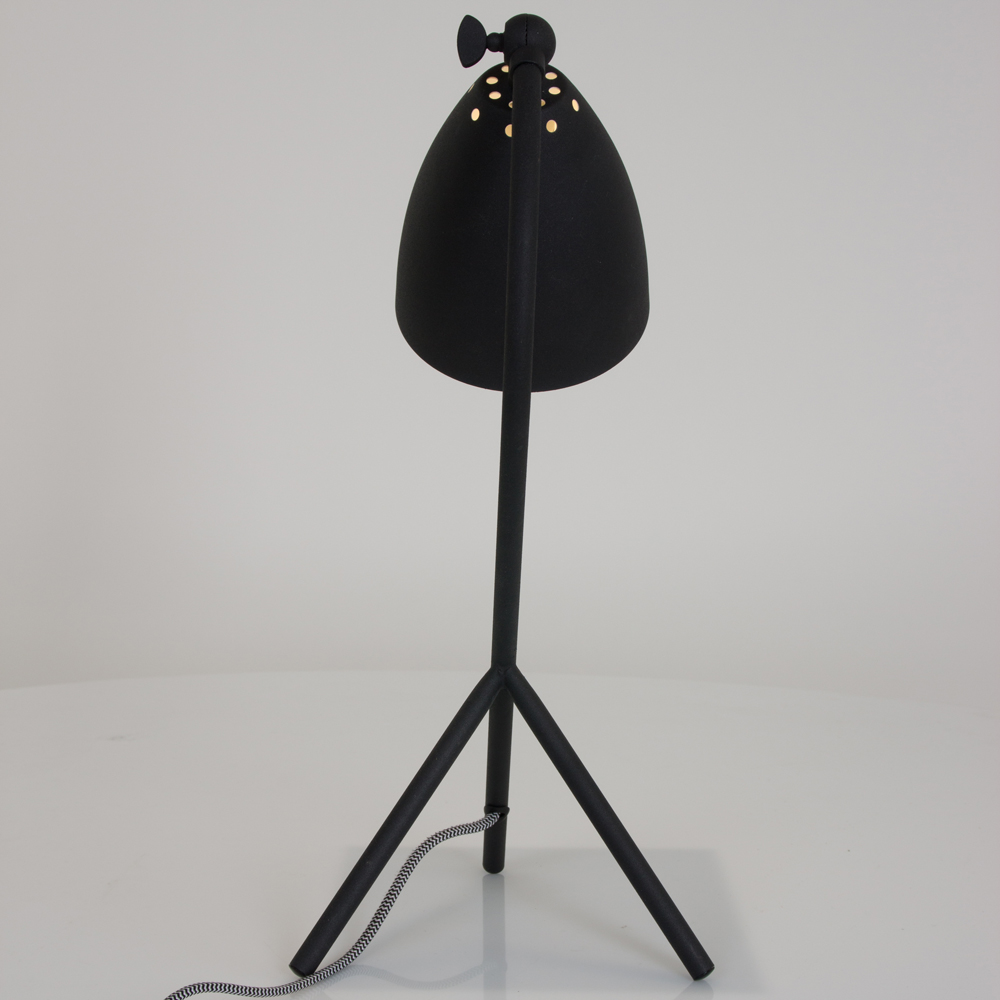 industrielle tischleuchte eli schwarz fabriklampe online. Black Bedroom Furniture Sets. Home Design Ideas