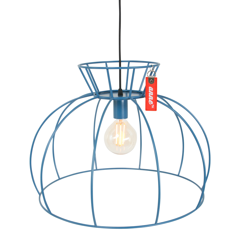 drahtlampe blau