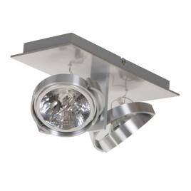 Industriewandspot kanan 2-Licht Stahl