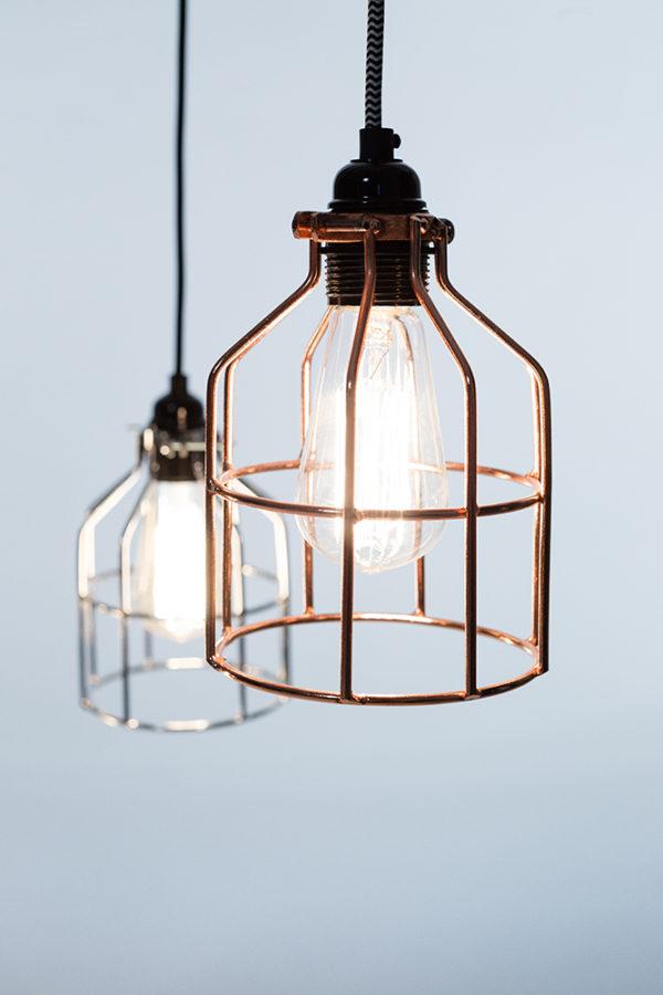 fabriklampe kupfer