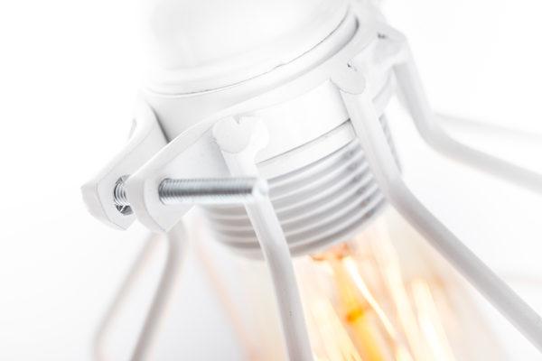 industrielle drahtlampe