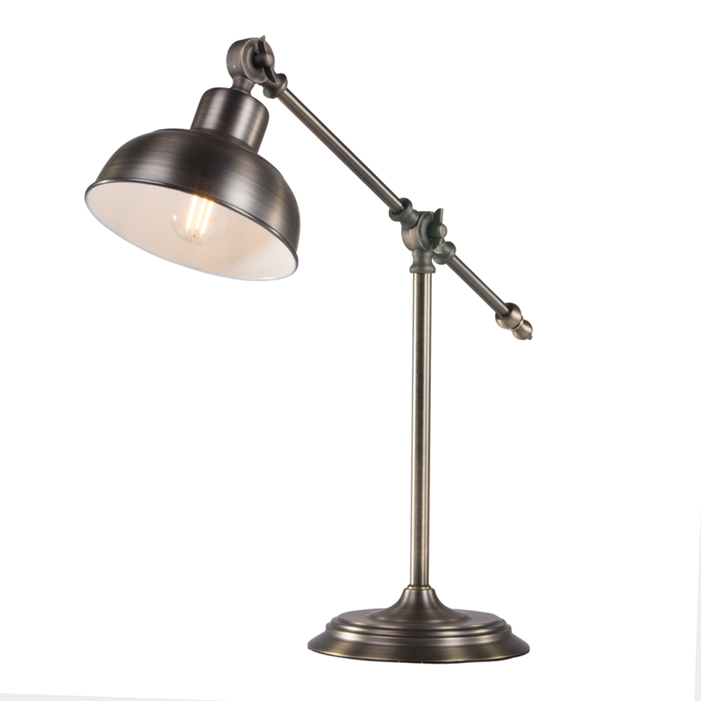 vintage tischlampe julio bronze fabriklampe online. Black Bedroom Furniture Sets. Home Design Ideas