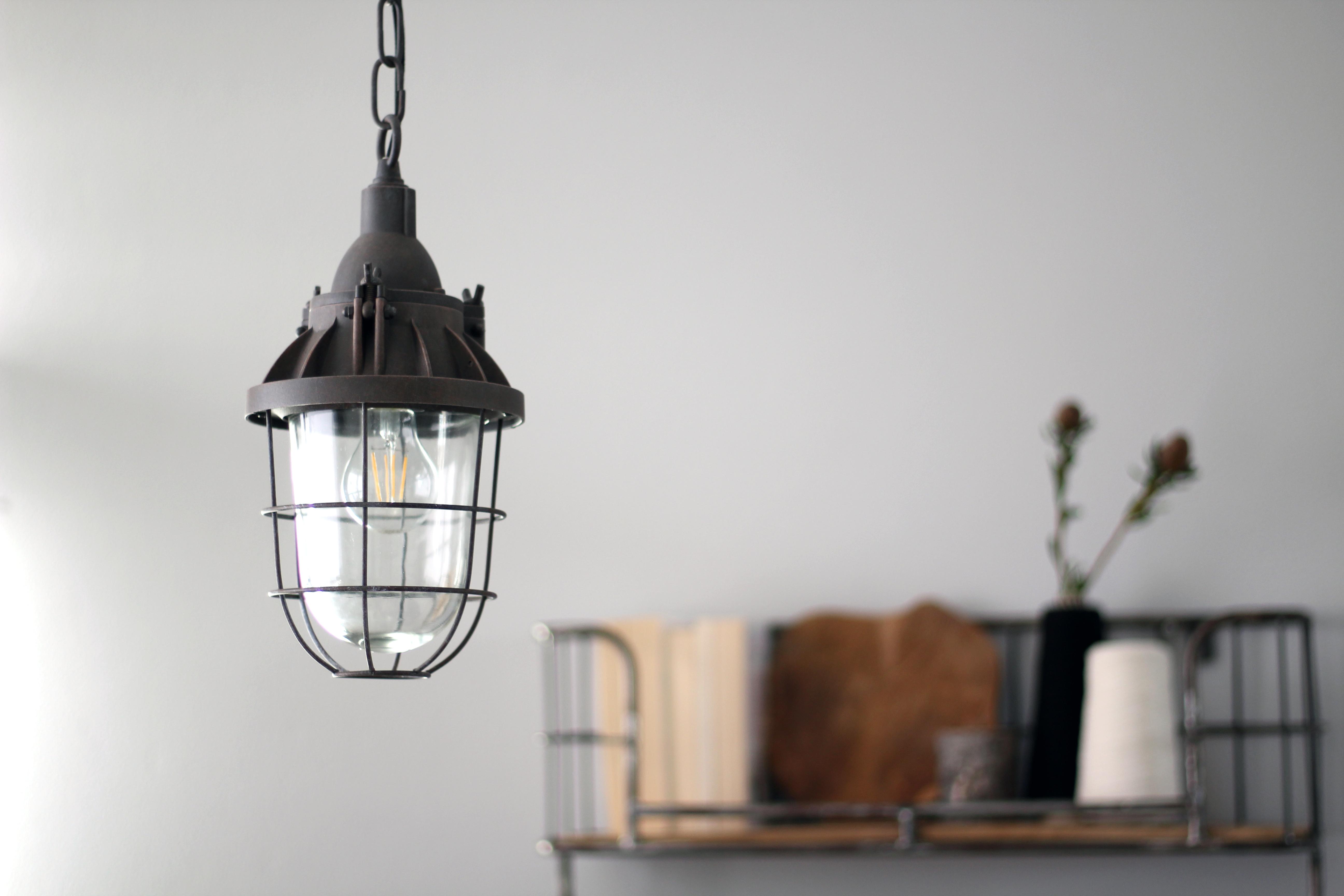 Ansprechend Lampe Industriedesign Beste Wahl Oldtimer Mistral Braun ø17 Zentimeter