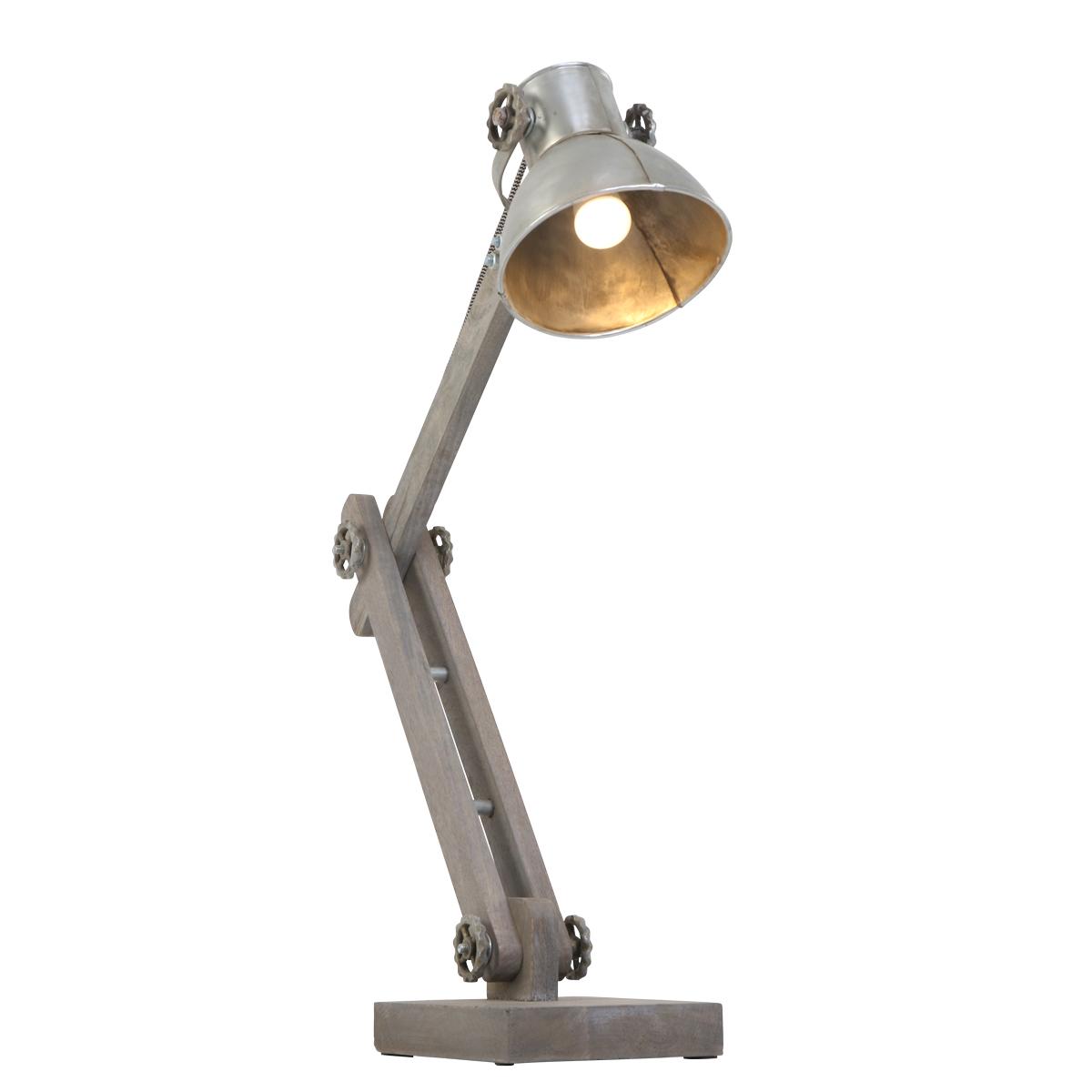Trendige Robuste Tischlampe Robusto Silber