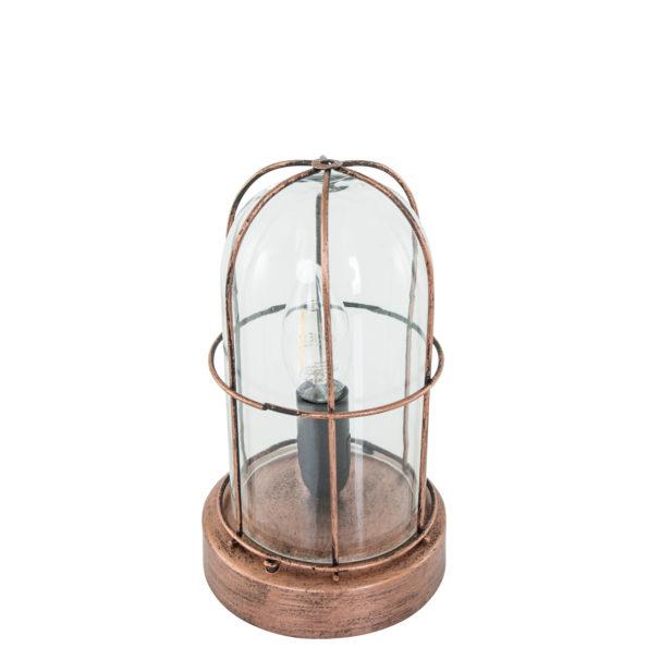 Koperen-tafellamp