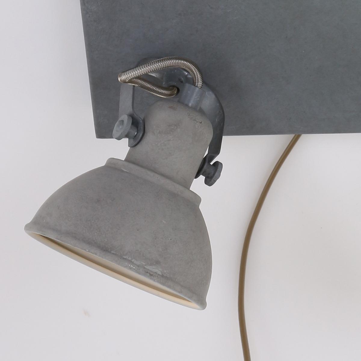 verstellbare deckenleuchte beon betongrau fabriklampe online. Black Bedroom Furniture Sets. Home Design Ideas