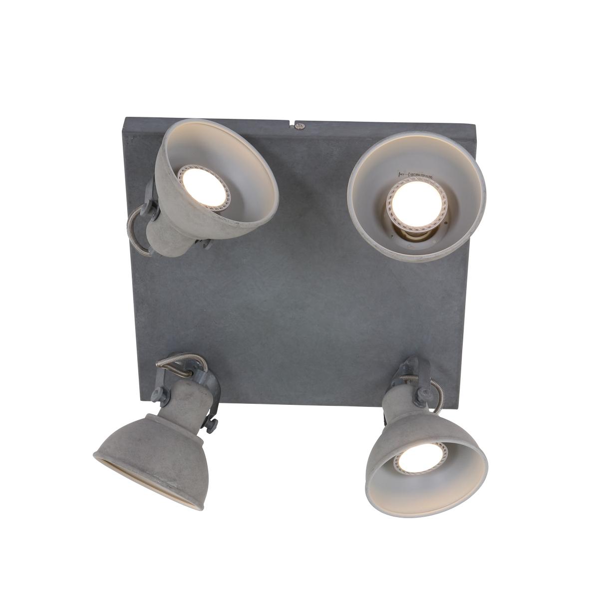 Plafondlamp grijs spot