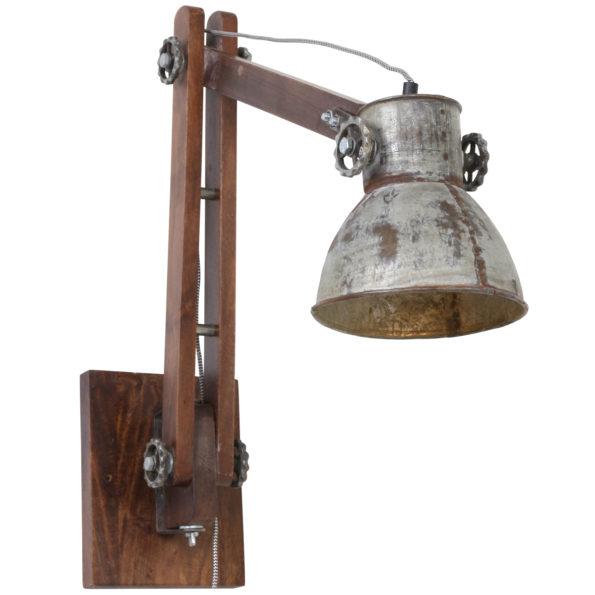 Stalen wandlamp
