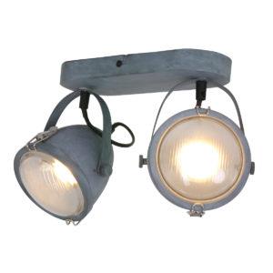 Tweespots plafondlamp grijs