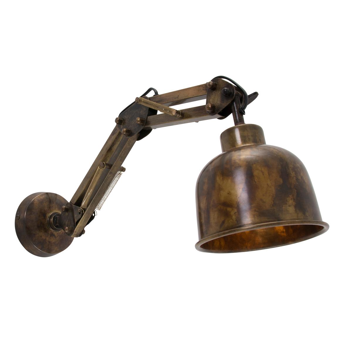 Wandlamp-brons
