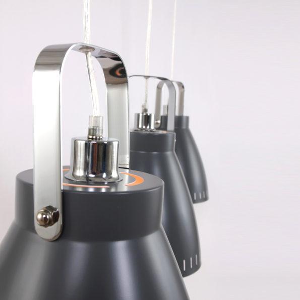 detail drielichts hanglamp