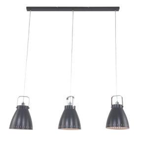 drielichts hanglamp grijs