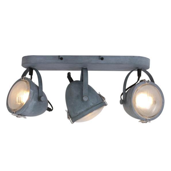 drielichts plafondlamp grijs
