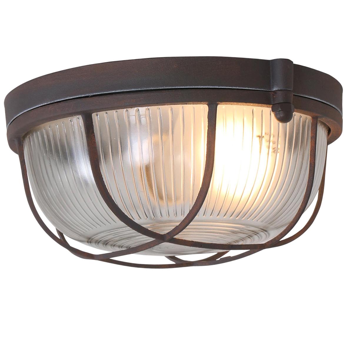 Dreilicht deckenleuchte mexlite grau 1314gr fabriklampe for Deckenleuchte braun