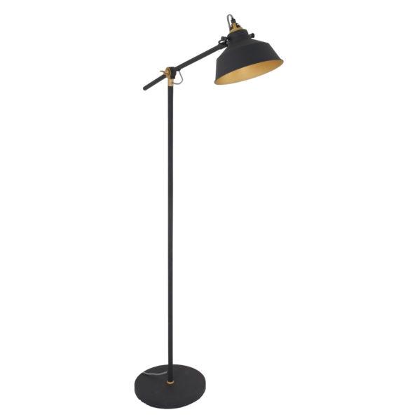 Industrielle Stehlampe Schwarz