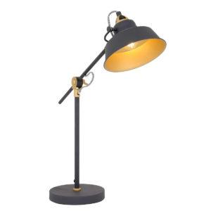 Industrielle Tischlampe Schwarz