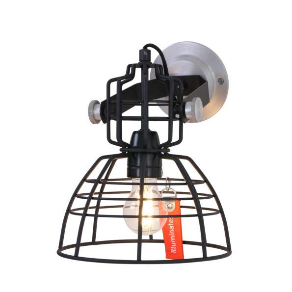 Industrielle Wandlampe Schwarz