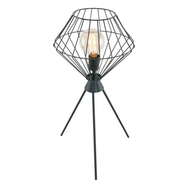 Trendy Tischlampe Schwarz