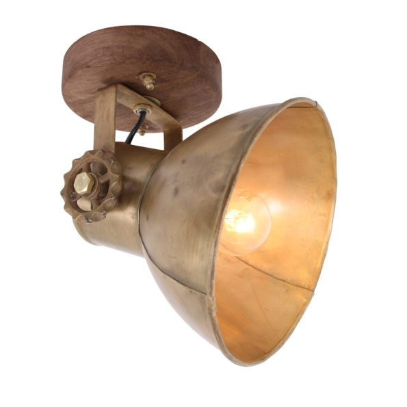 Wandlampe Gold