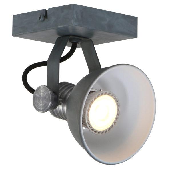 Wandlampe Grau