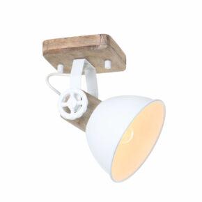 Deckenleuchte weiß mit Holz-7968W